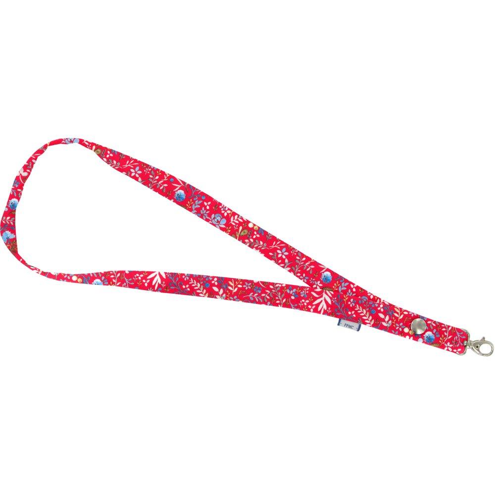 Porte-clés collier bleuets cherry