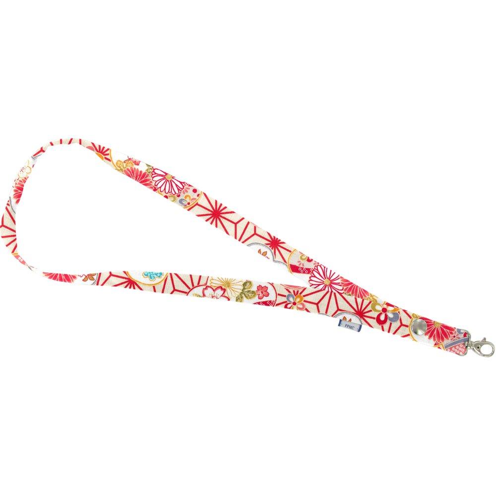 Porte-clés collier  origamis fleuris