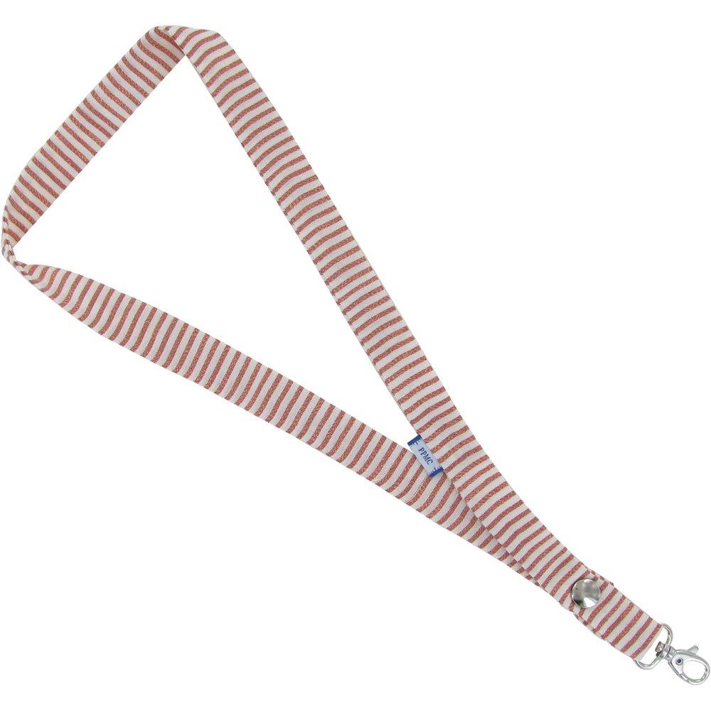 Porte-clés collier rayures cuivrées