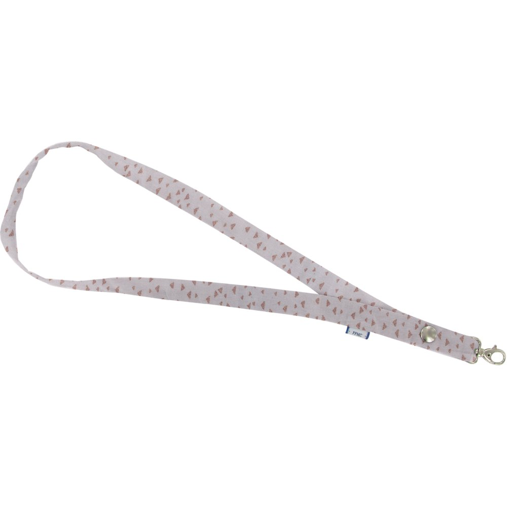 Lanyard necklace triangle cuivré gris