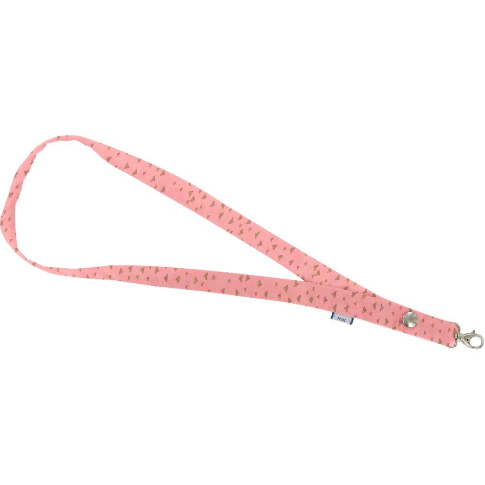 Porte-clés collier triangle or poudré