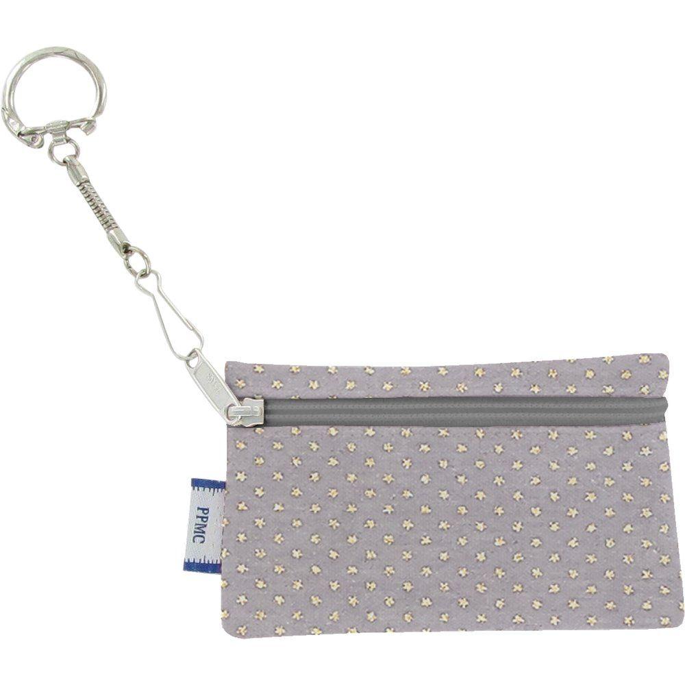 Pochette porte-clés etoile or gris