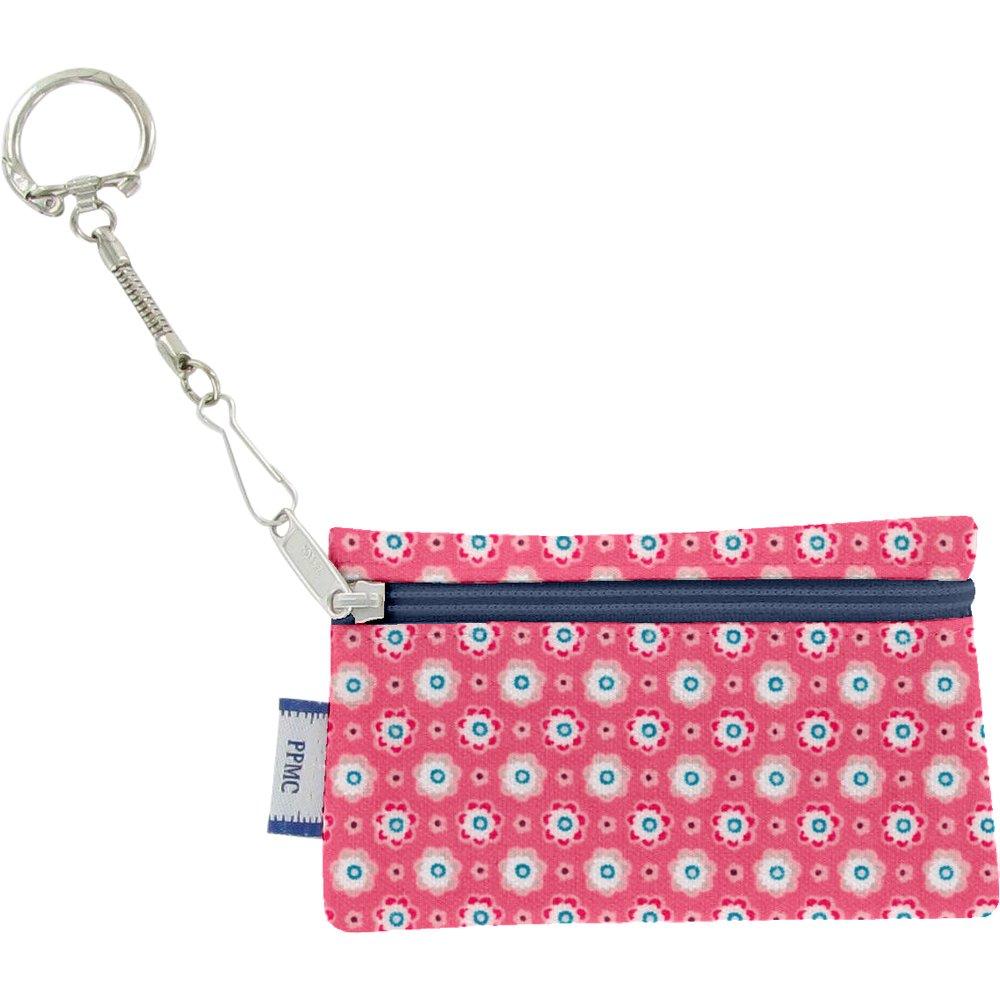 Pochette porte-clés   fleurette blush
