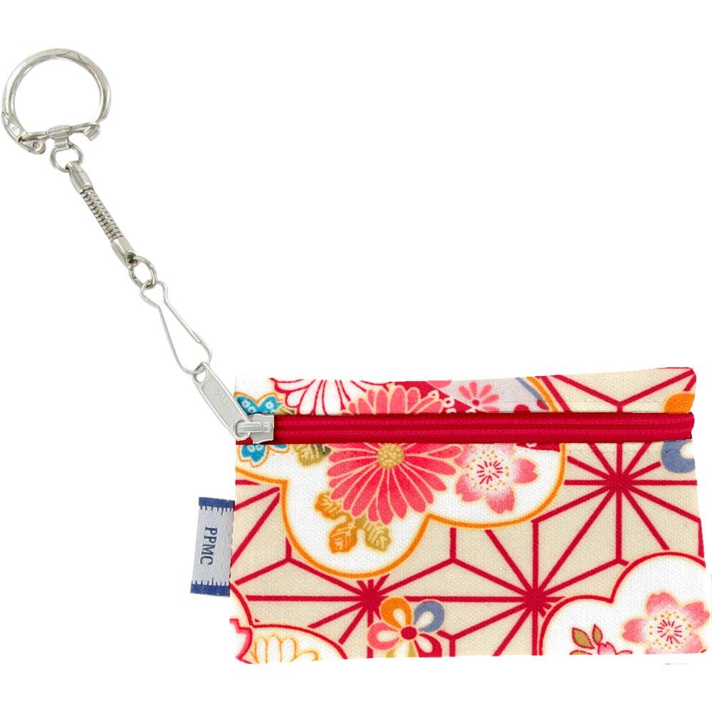 Pochette porte-clés  origamis fleuris