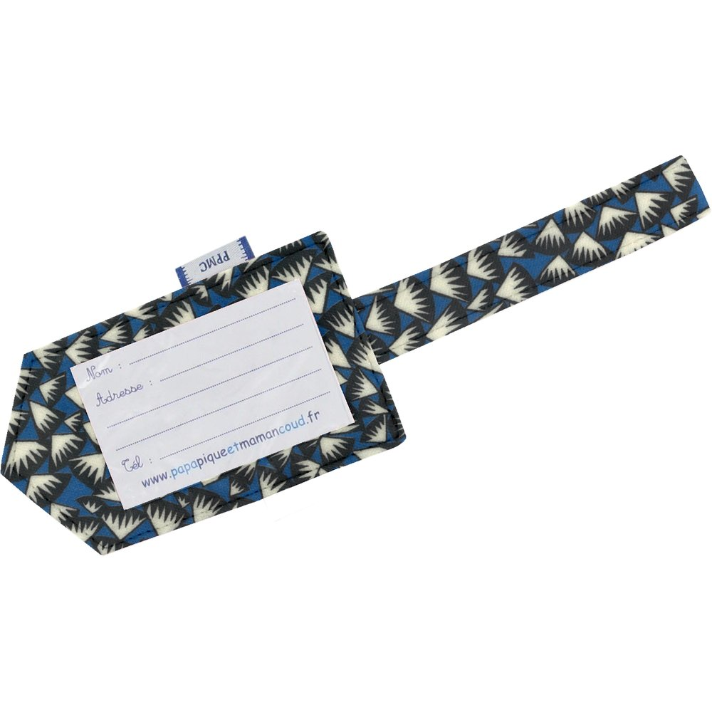 Luggage Tag parts blue night