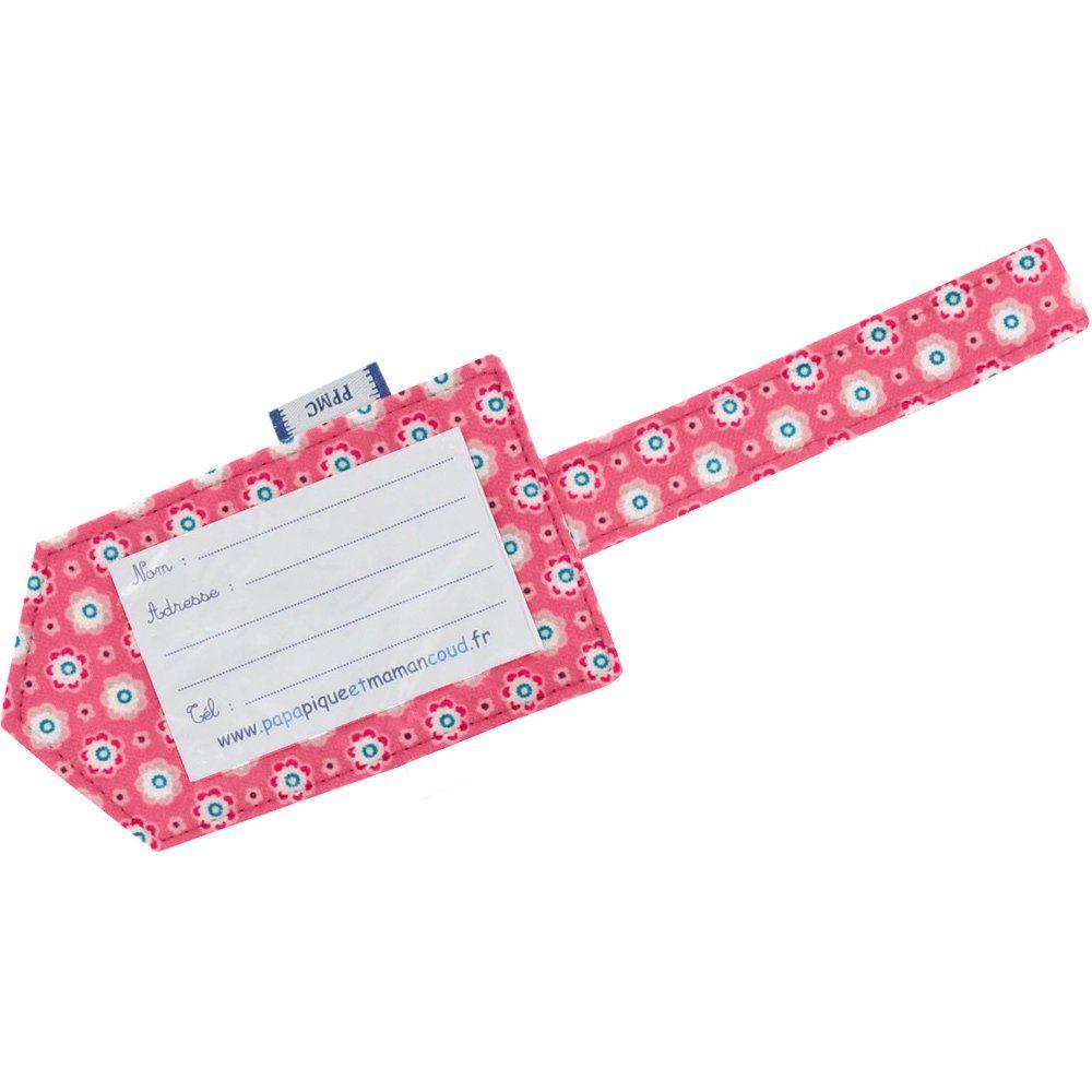 Etiquette bagage  fleurette blush