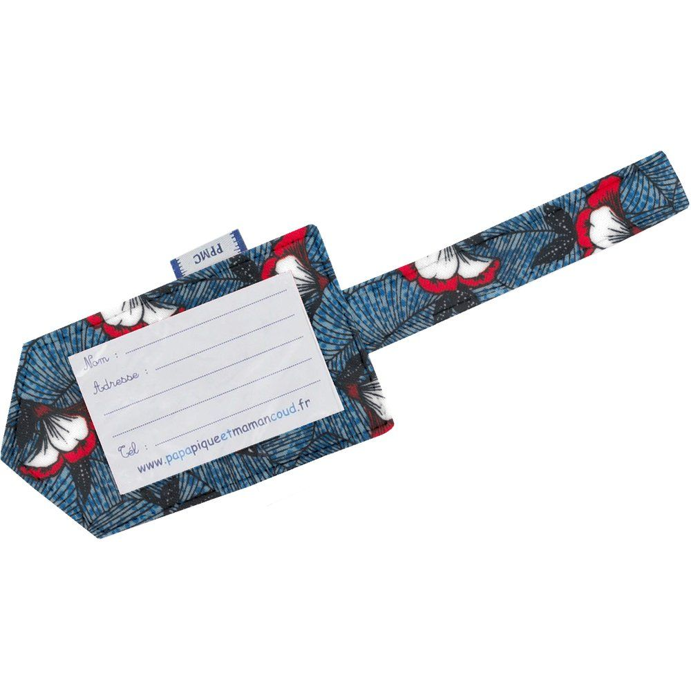 Luggage Tag flowered night