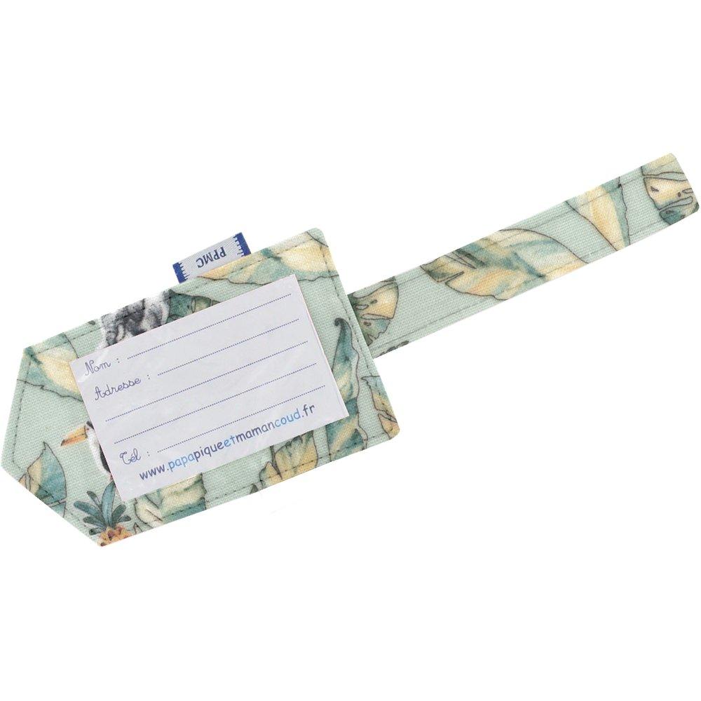 Etiquette bagage paradizoo mint