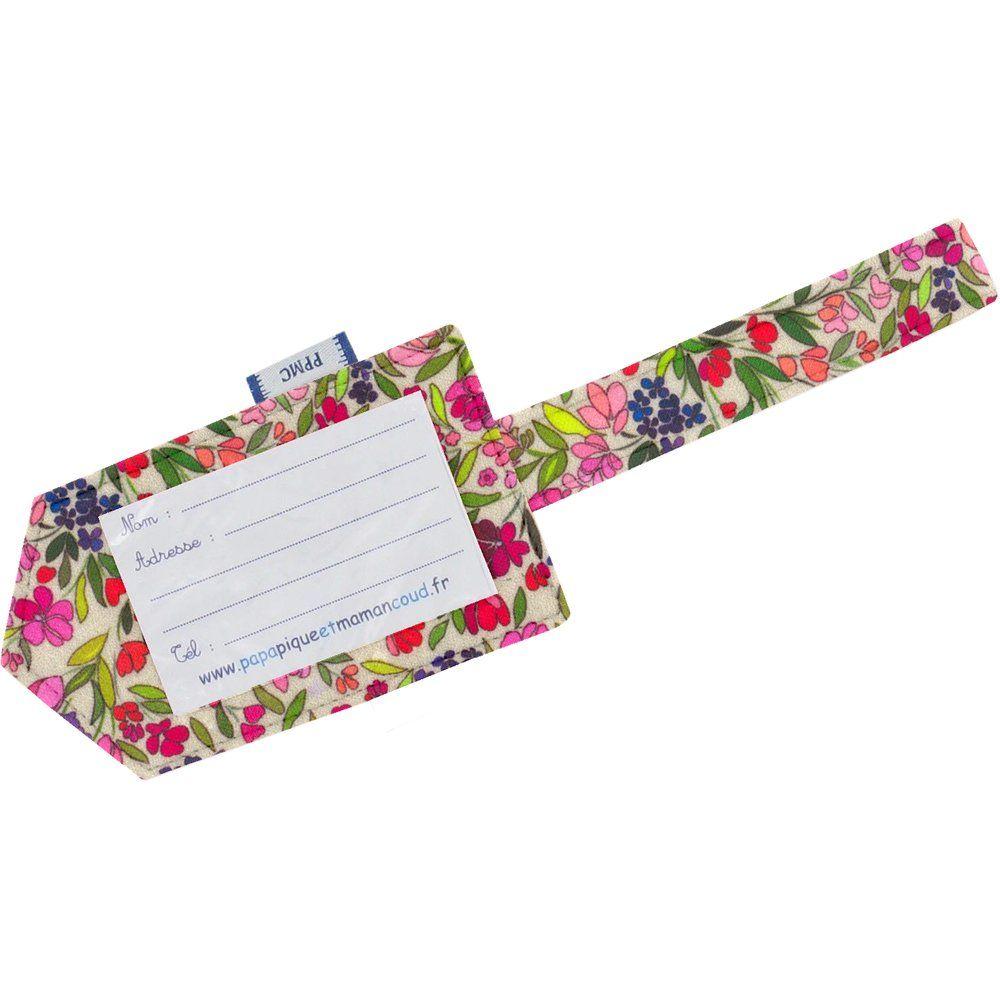 Etiqueta para equipaje pradera púrpura