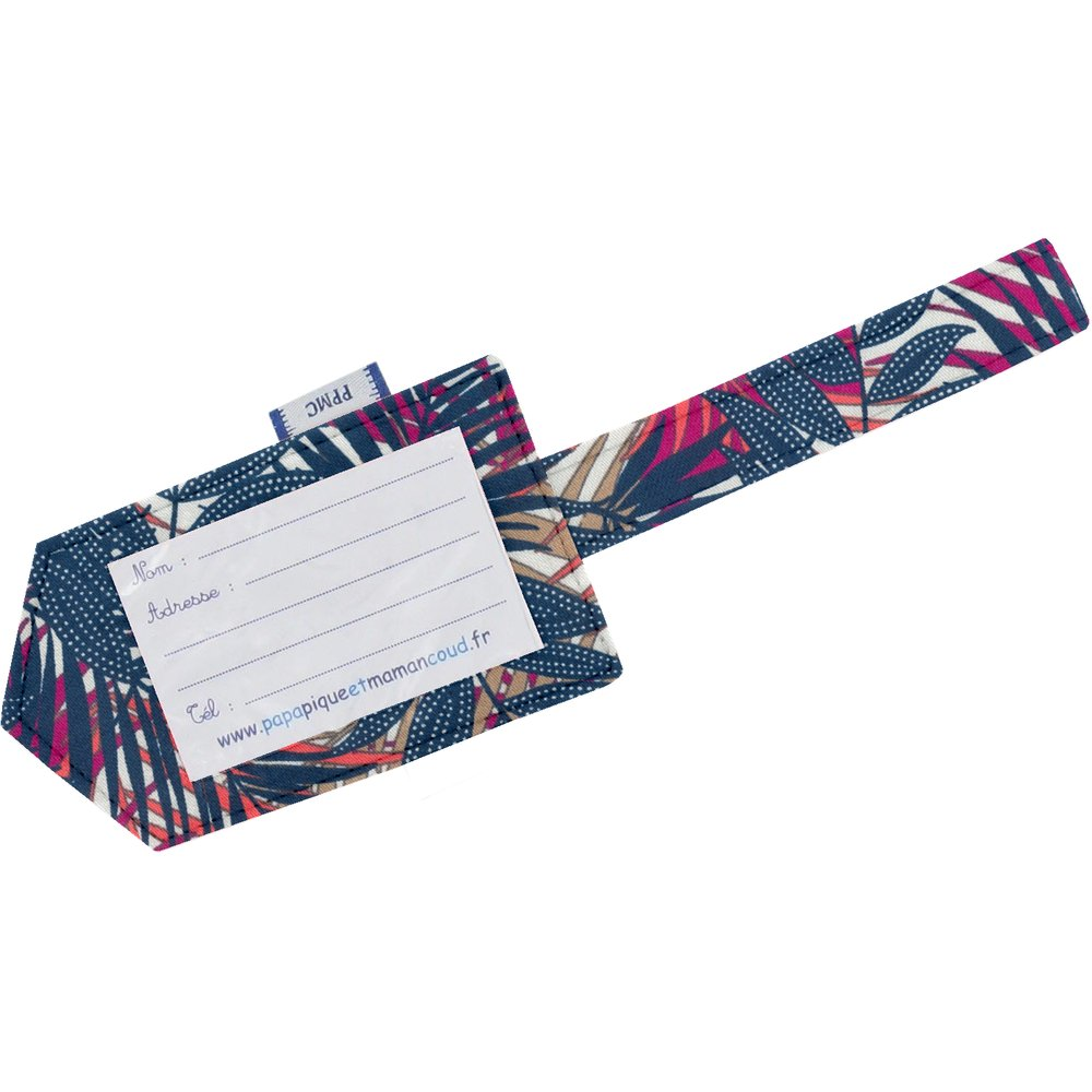 Luggage Tag tropical fire