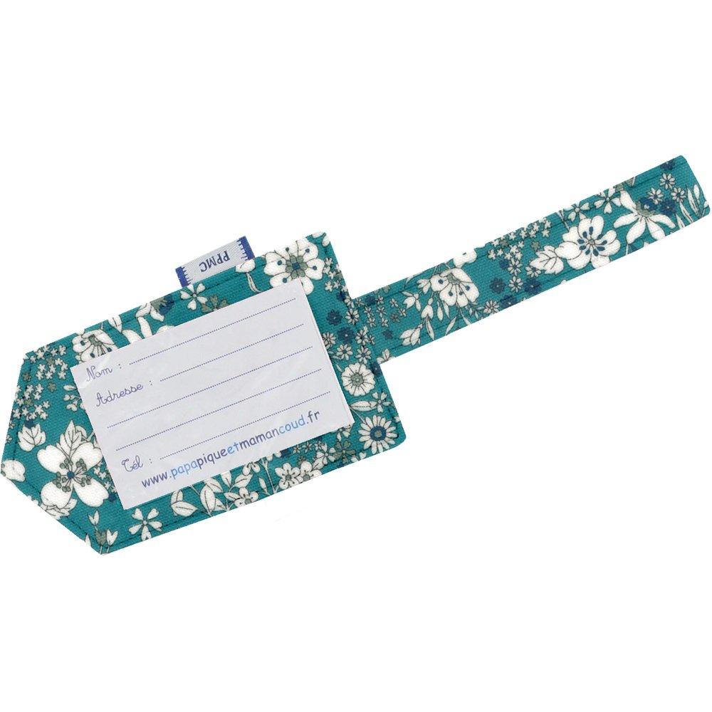 Etiqueta para equipaje violeta celadon
