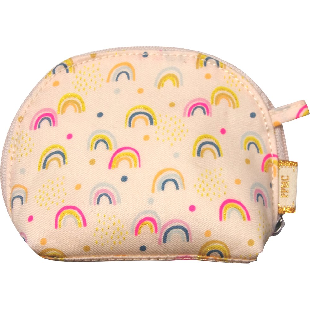 gusset coin purse rainbow