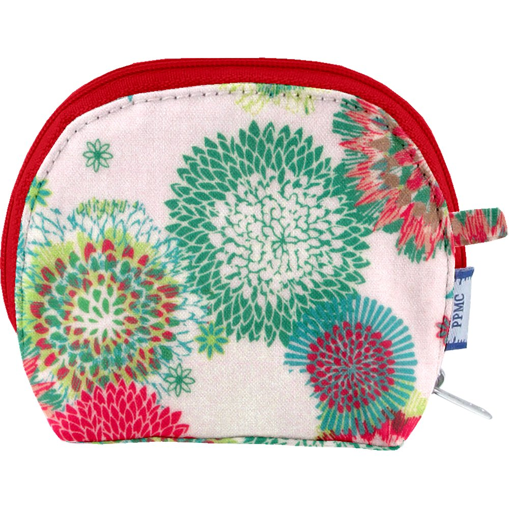 gusset coin purse powdered  dahlia