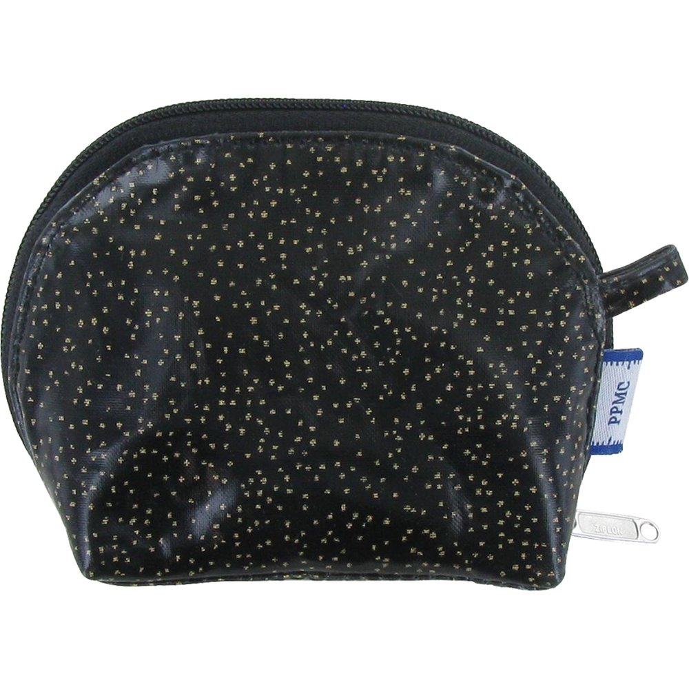 gusset coin purse noir pailleté