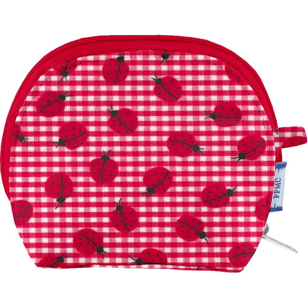 gusset coin purse ladybird gingham