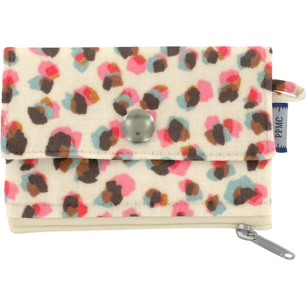 zipper pouch card purse confetti aqua