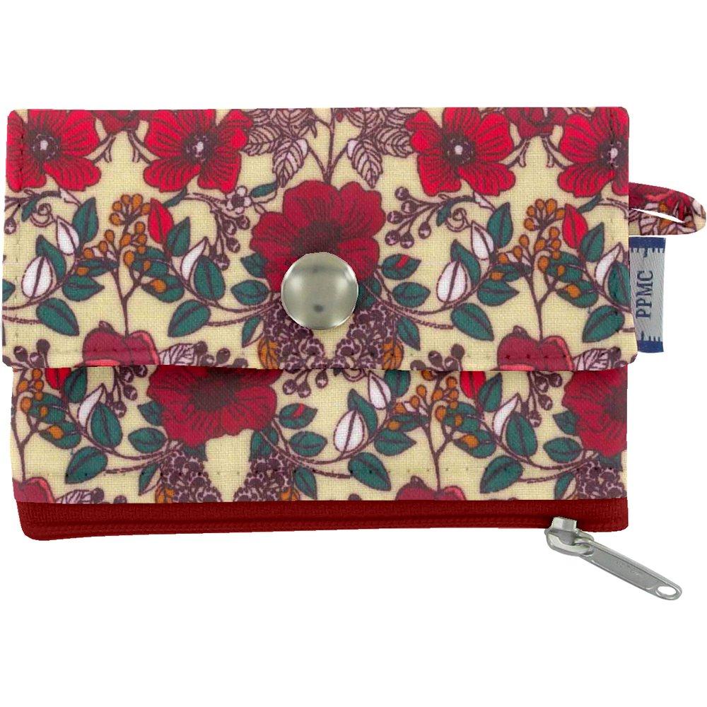 zipper pouch card purse poppy