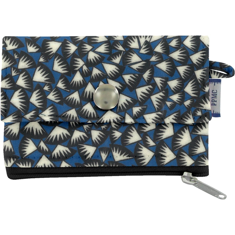 zipper pouch card purse parts blue night