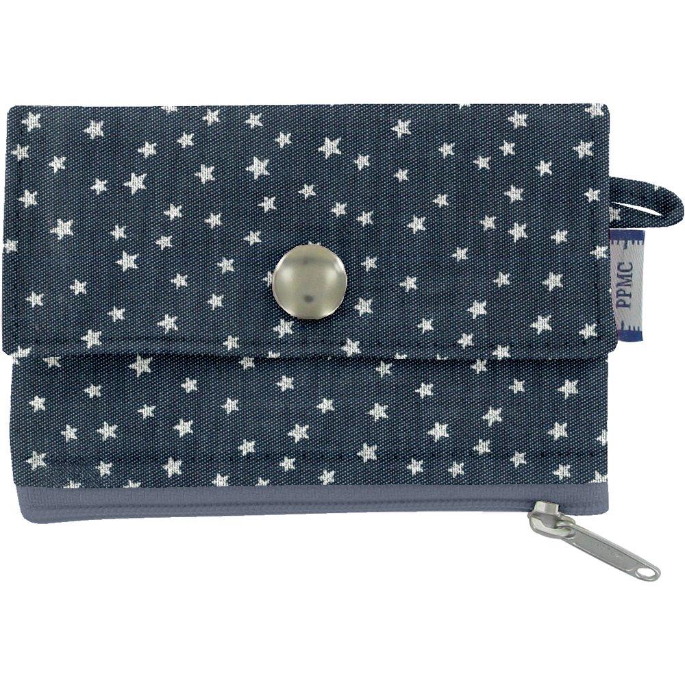 zipper pouch card purse etoile argent jean