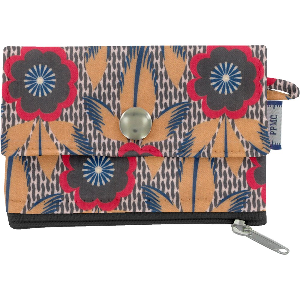 zipper pouch card purse fleurs de savane