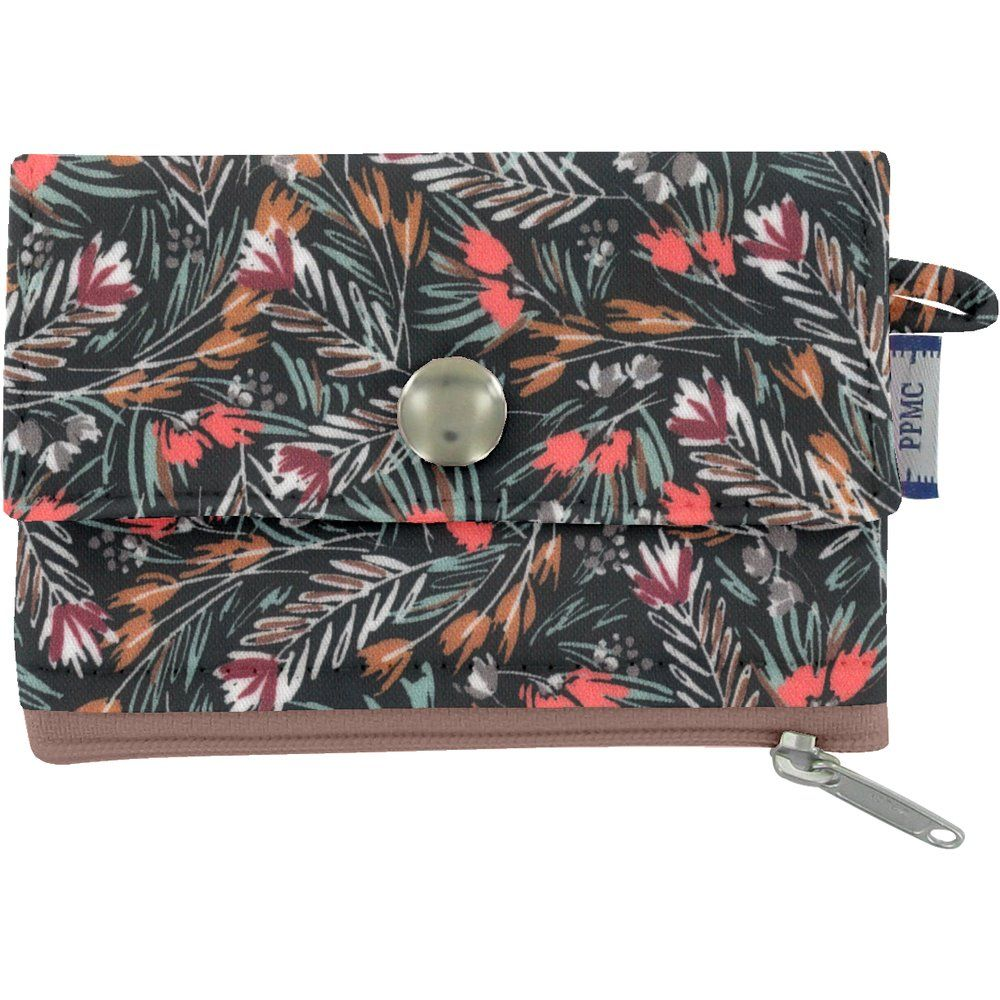 zipper pouch card purse grasses