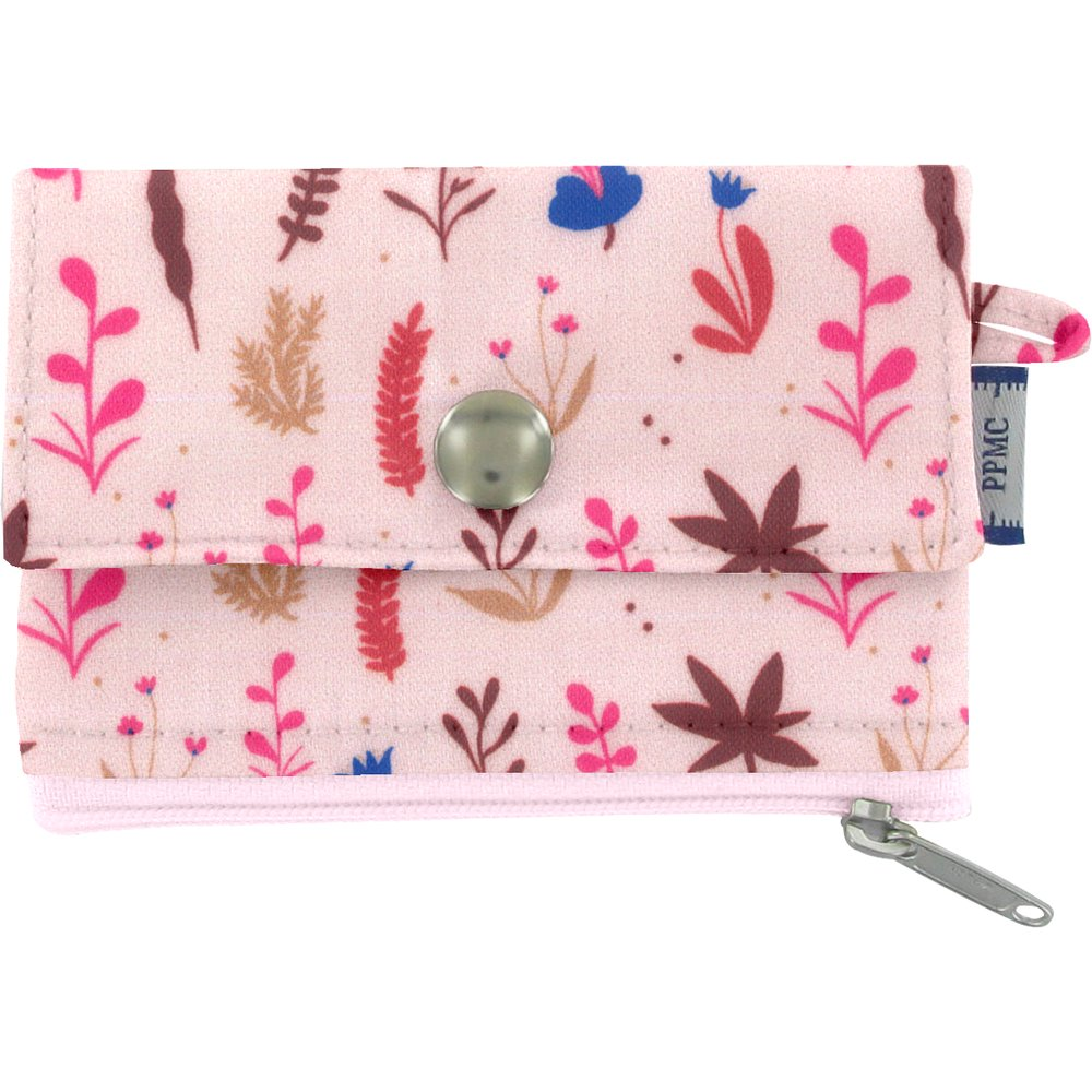 zipper pouch card purse herbier rose