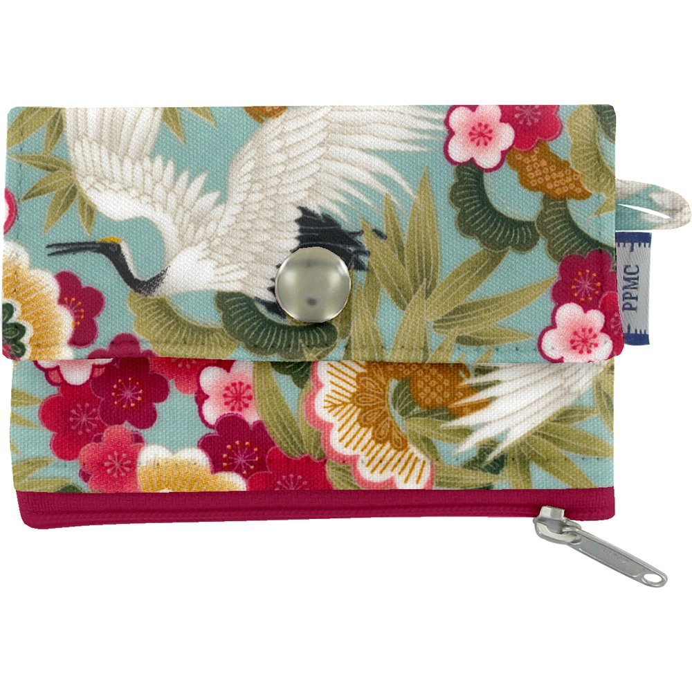 zipper pouch card purse ibis