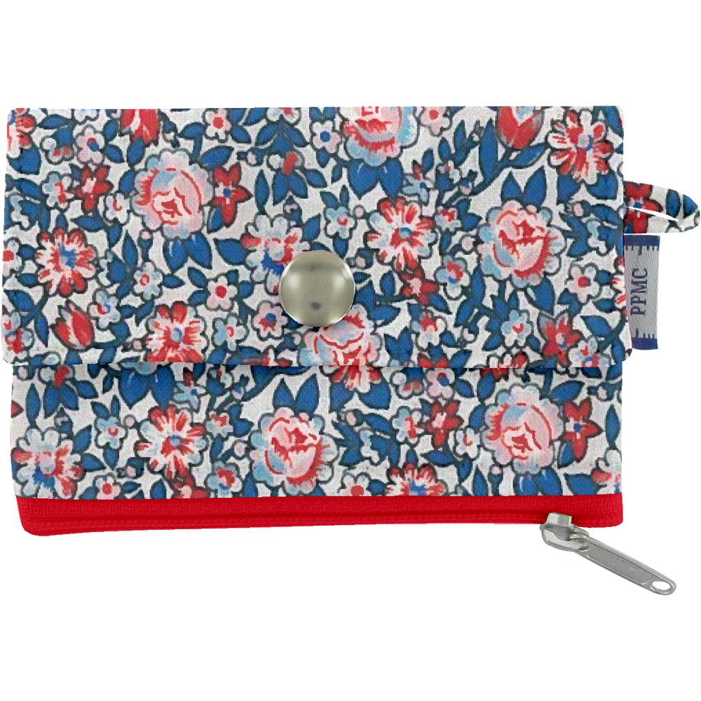 zipper pouch card purse flowered london