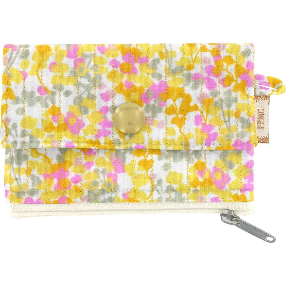 zipper pouch card purse mimosa jaune rose