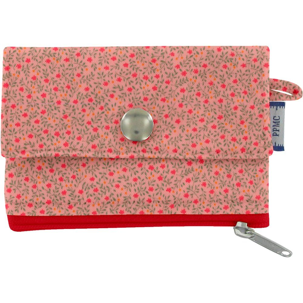 Mini pochette porte-monnaie mini fleur rose