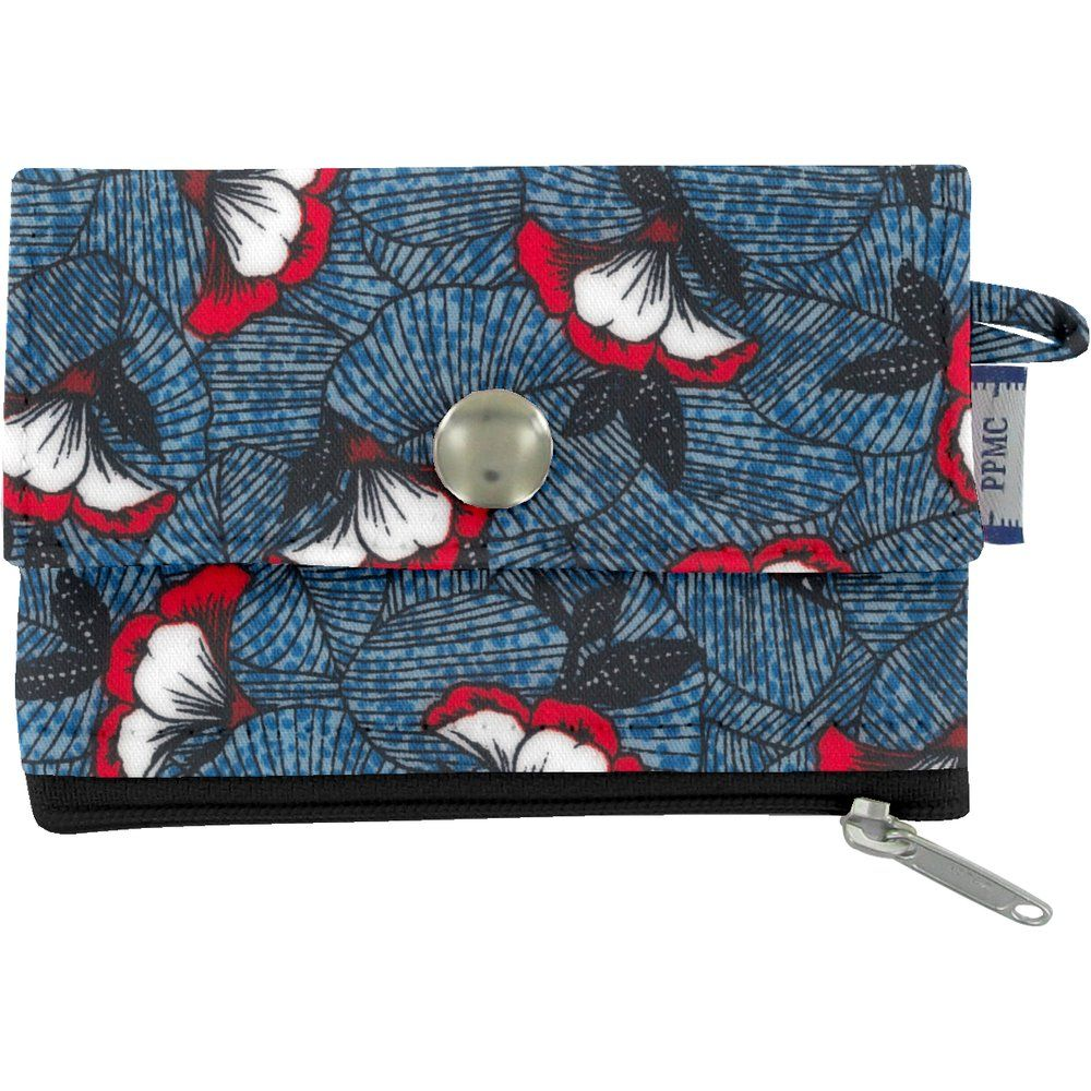 zipper pouch card purse flowered night
