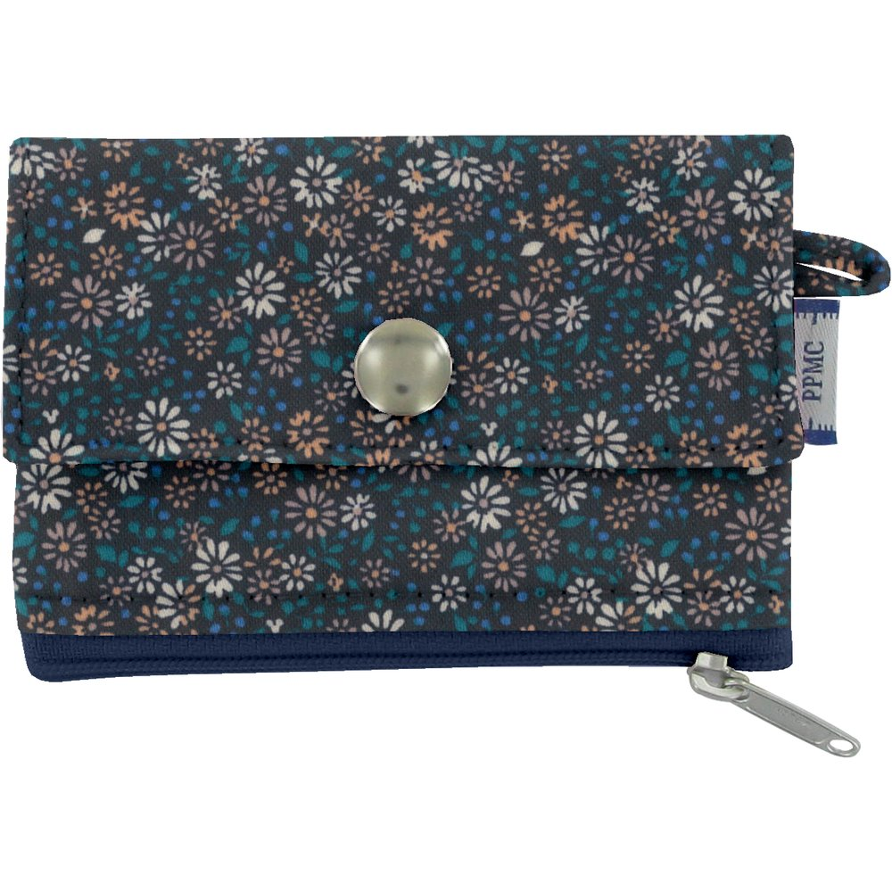 zipper pouch card purse paquerette marine