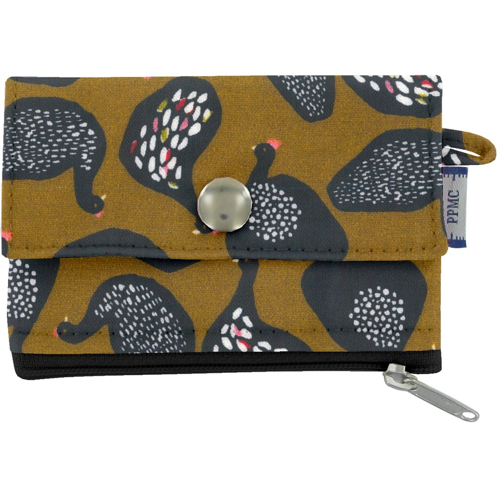 zipper pouch card purse hen facet