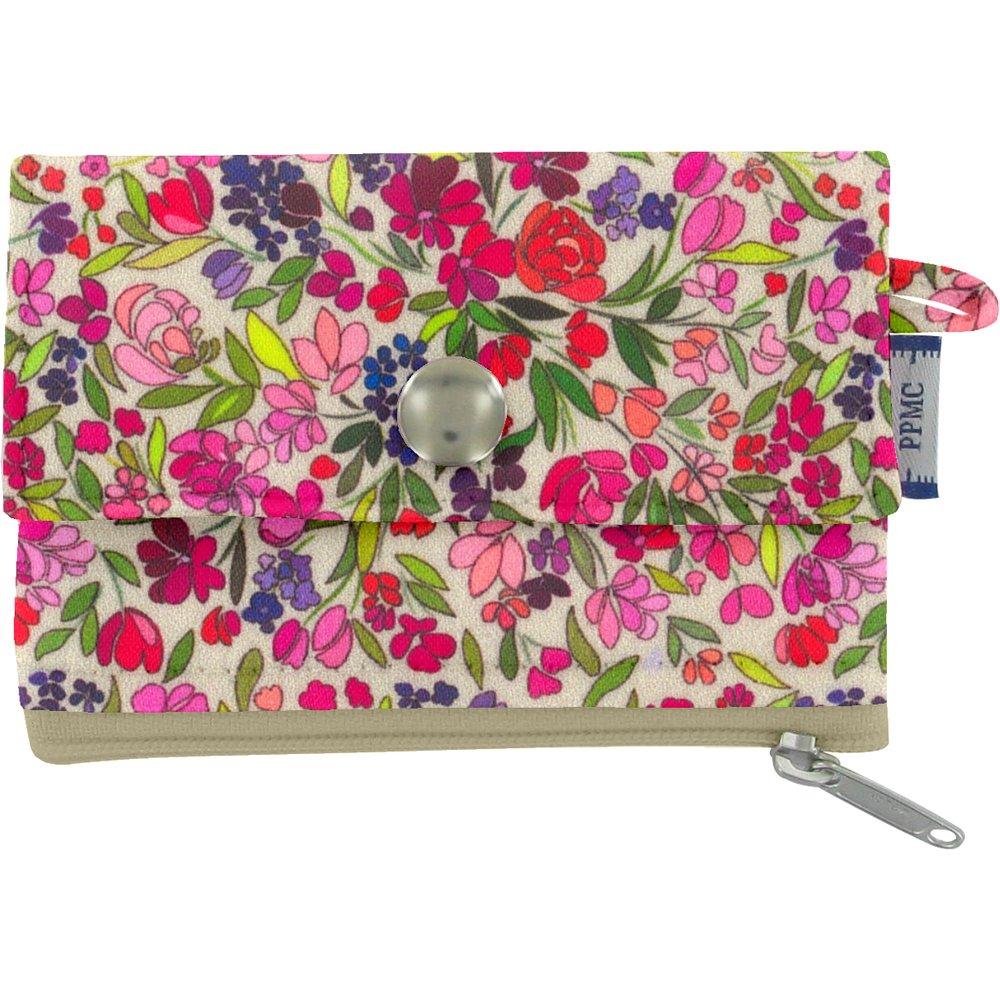 zipper pouch card purse purple meadow