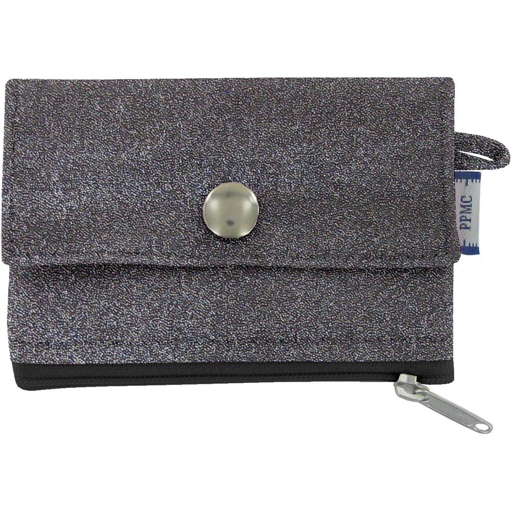 zipper pouch card purse suédine noire