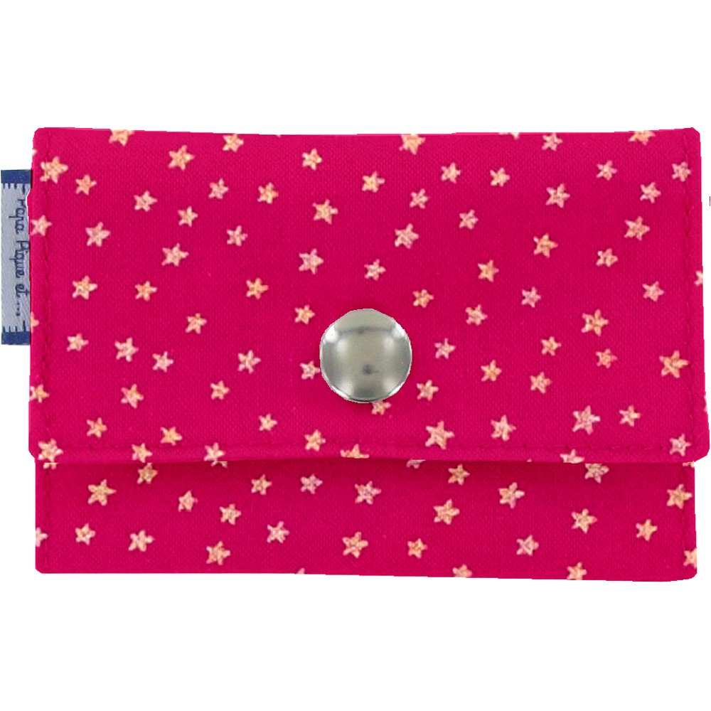 Multi card holder etoile or fuchsia