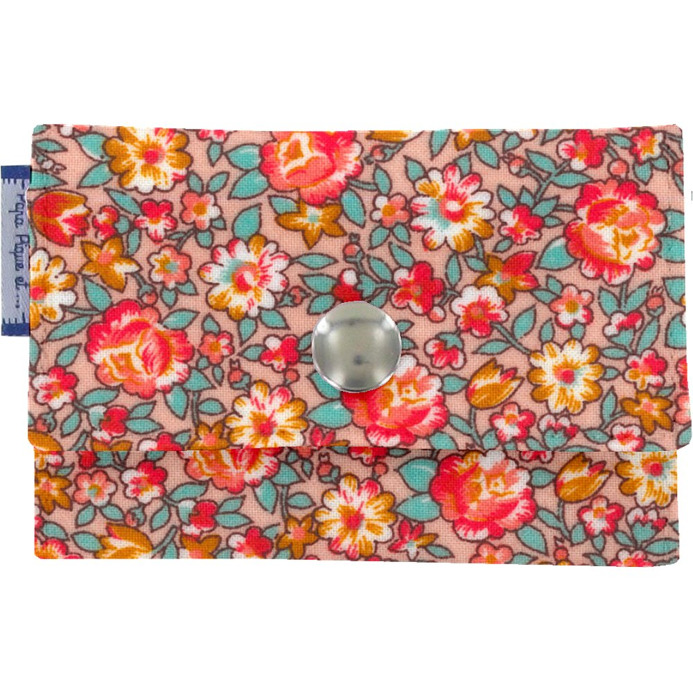 Multi card holder peach flower