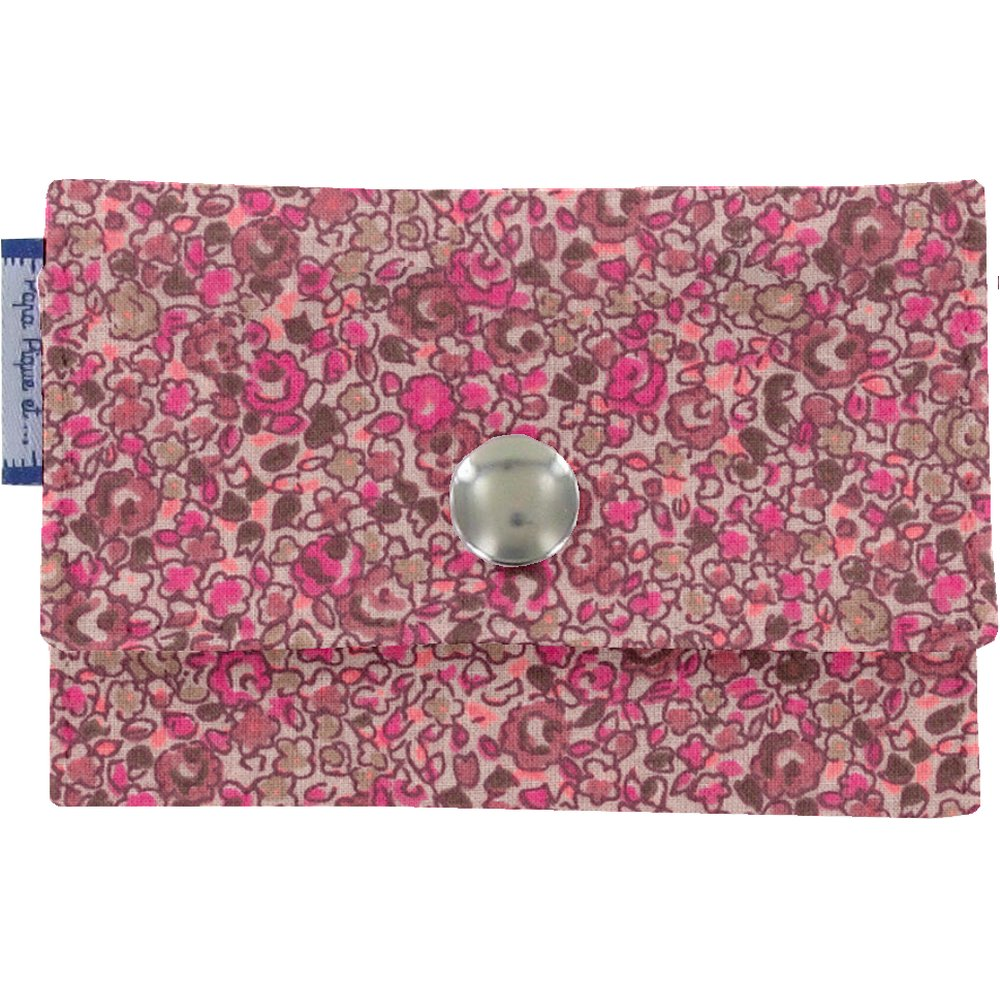 Multi card holder plum lichen
