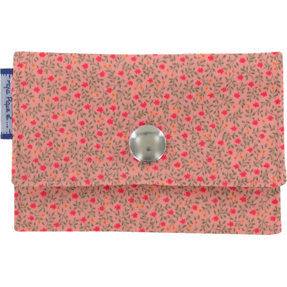 Multi card holder mini pink flower