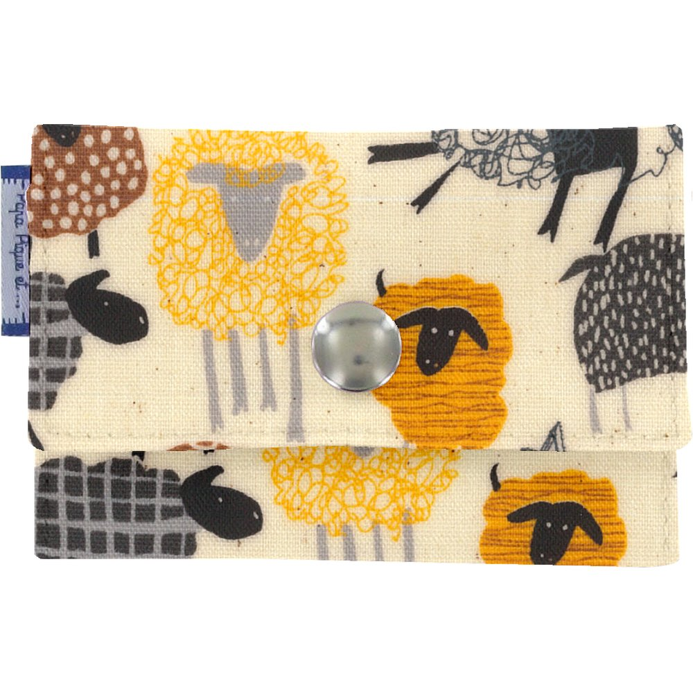 Porte multi-cartes mouton jaune