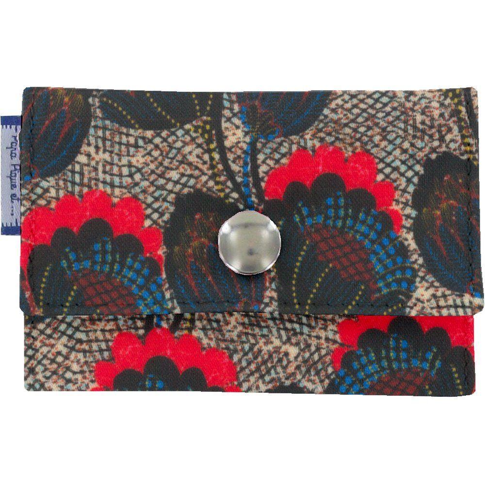 Porte multi-cartes pavot royal