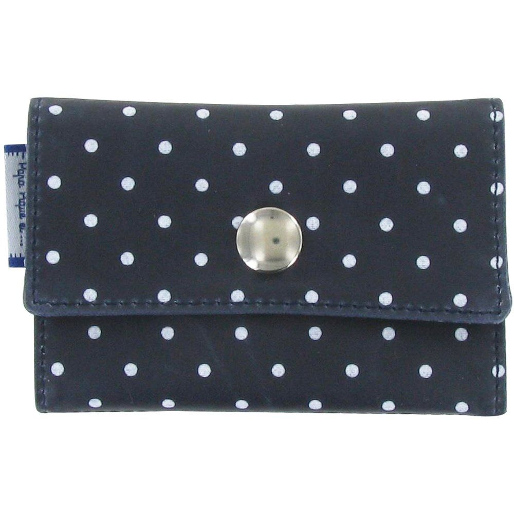 Multi card holder navy blue spots