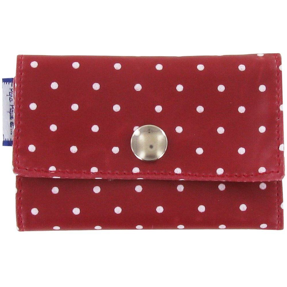 Porte multi-cartes pois rouge