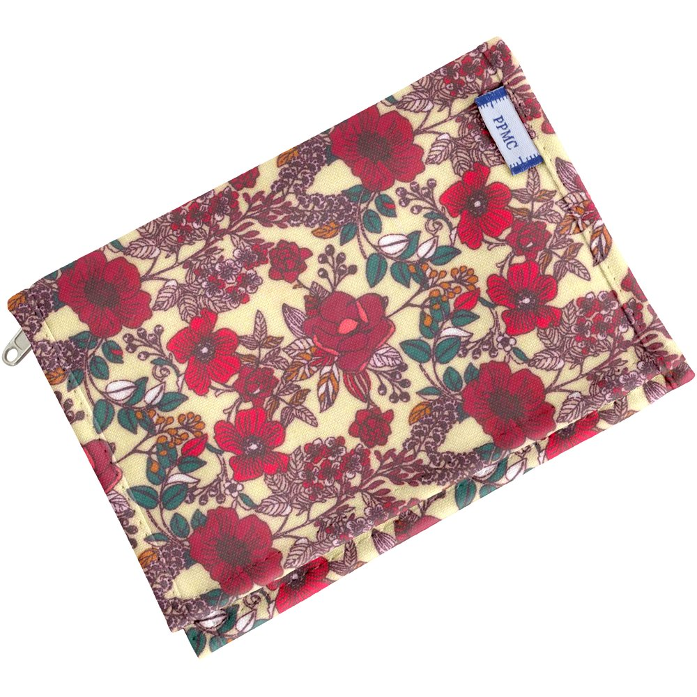 Portefeuille compact coquelicot
