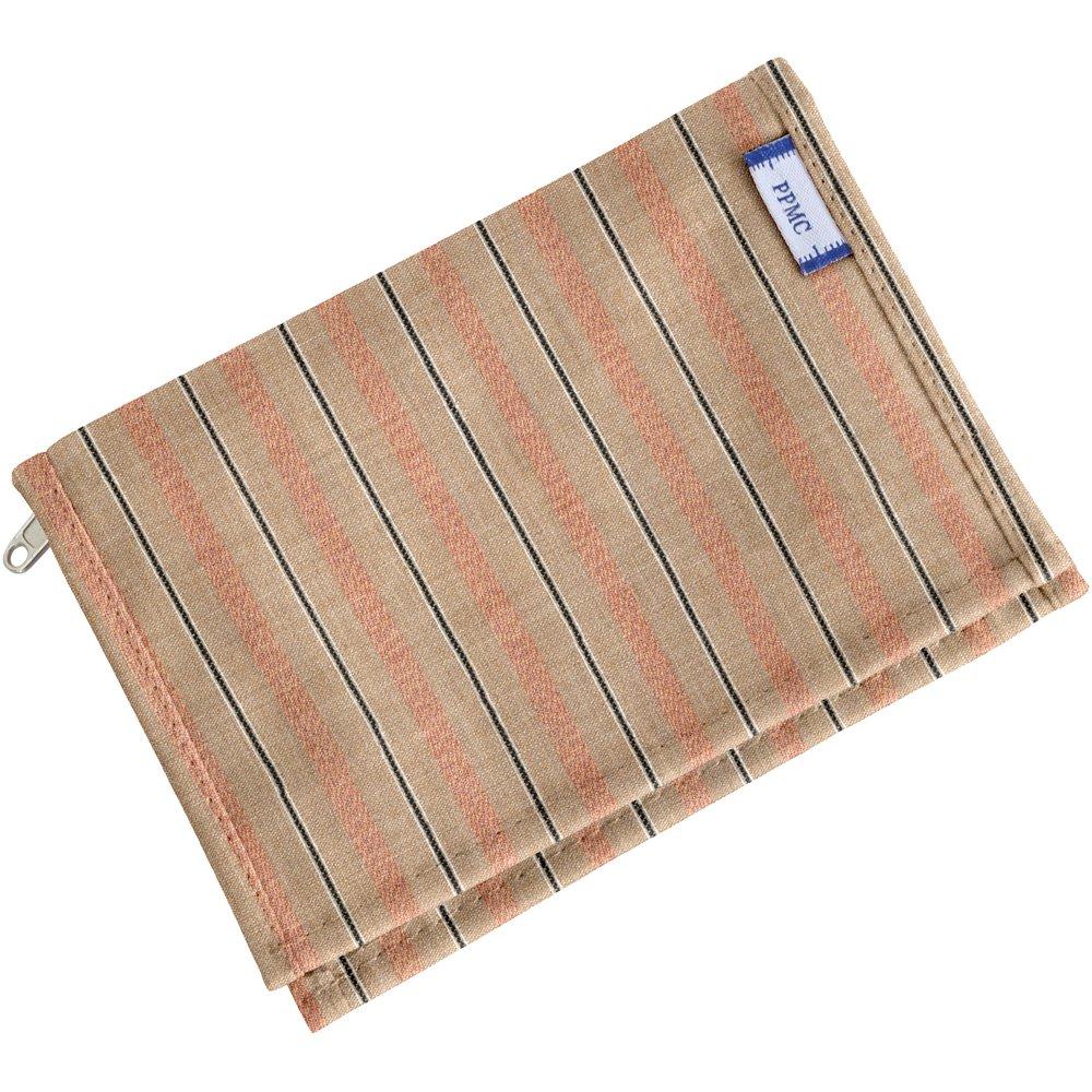 Portefeuille compact rayure bronze cuivrée