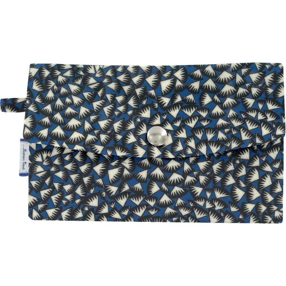 Portefeuille  eclats bleu nuit