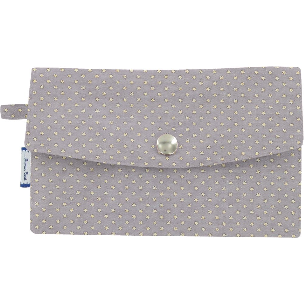 Wallet etoile or gris