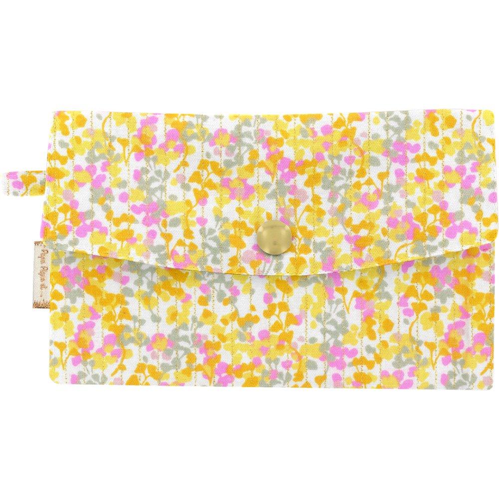 Wallet mimosa jaune rose