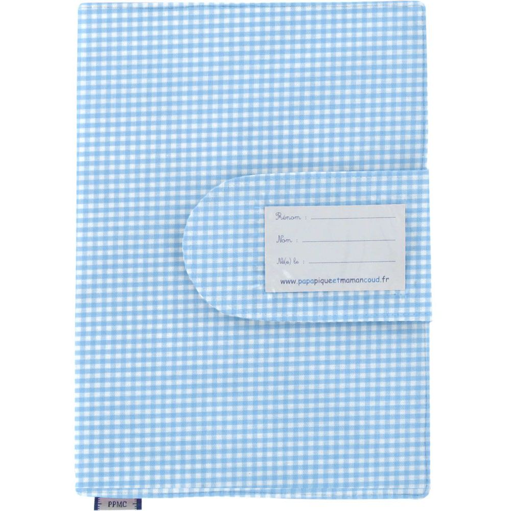 Health book cover sky blue gingham