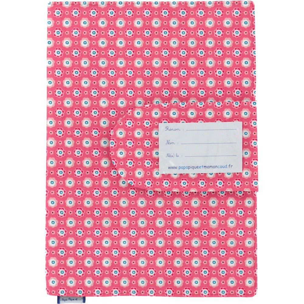 Protège carnet de santé  fleurette blush